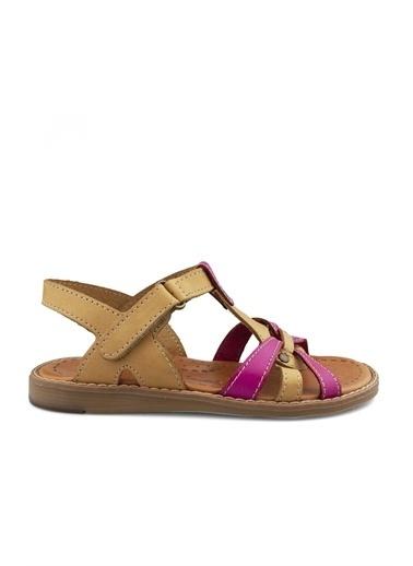 Cici Bebe Ayakkabı Kız Çocuk Sandalet Krem